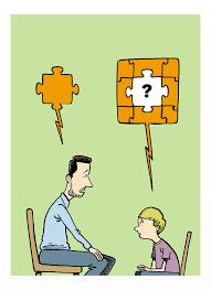 Resultado de imagen de padres hablar con niños dibujo